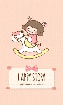 Happy story go launcher theme poster