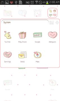 LOVE go launcher theme apk screenshot
