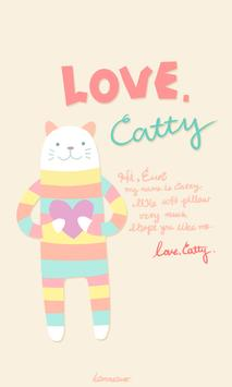 Love Catty go launcher theme poster