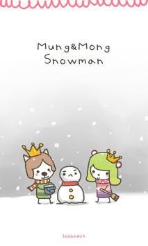 MoongMong(Snowman) go launcher poster