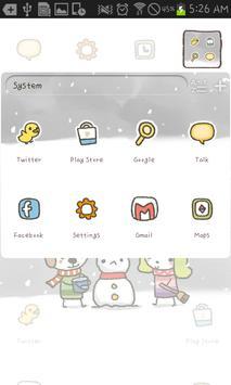 MoongMong(Snowman) go launcher apk screenshot