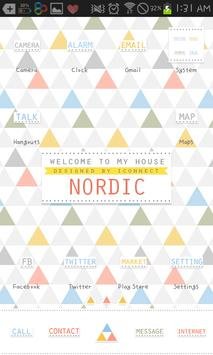 nordic go launcher theme apk screenshot
