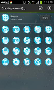 Raindrops go launcher theme apk screenshot