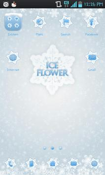 Ice flower go launcher theme poster