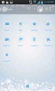 Ice flower go launcher theme screenshot 1