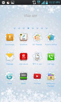 Ice flower go launcher theme screenshot 4