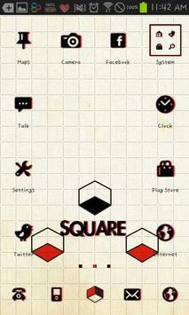 square GO launcher theme poster