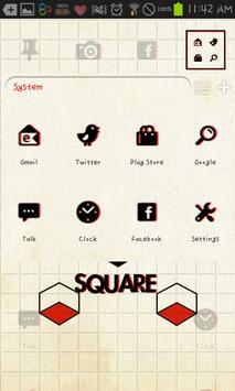 square GO launcher theme screenshot 1