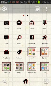 square GO launcher theme screenshot 2