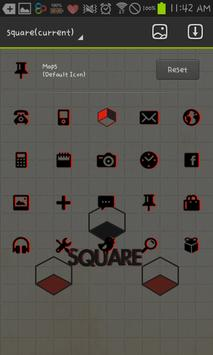 square GO launcher theme screenshot 3