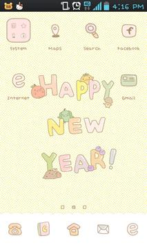stupid's newyear go launcher poster