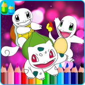Coloring for Super pokemonster icon