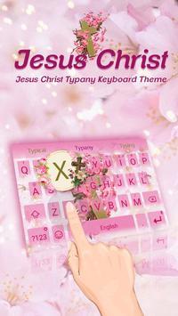 God Christ Floral Theme&Emoji Keyboard poster