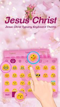 God Christ Floral Theme&Emoji Keyboard apk screenshot
