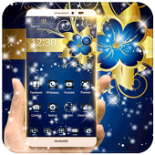 Golden Blue Flower icon