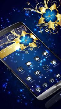 Golden Blue Flower screenshot 1