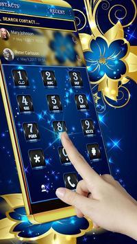 Golden Blue Flower screenshot 2