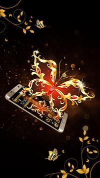 Butterfly Gold Theme apk screenshot