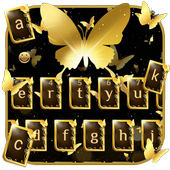 Golden Butterfly Keyboard Theme icon