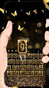 Golden Butterfly Keyboard Theme apk screenshot