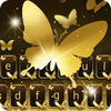 Gold Butterfly Keyboard Theme-icoon