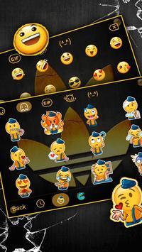 Beautiful Gold Clover Keyboard Theme screenshot 1
