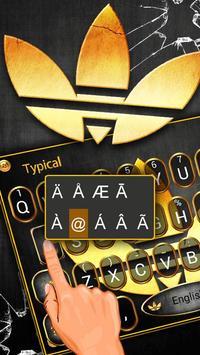 Beautiful Gold Clover Keyboard Theme screenshot 2