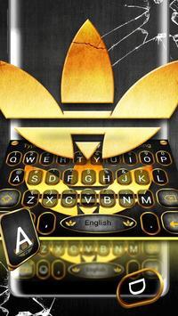 Beautiful Gold Clover Keyboard Theme screenshot 3