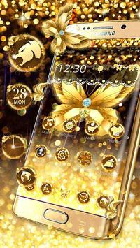 Diamond Butterfly Golden Theme screenshot 4
