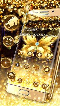 Diamond Butterfly Golden Theme poster