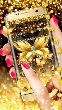 Diamond Butterfly Golden Theme screenshot 1