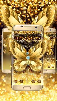 Diamond Butterfly Golden Theme screenshot 2