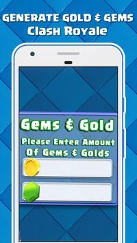 Gems & Gold For Clash Royale : JOKE poster