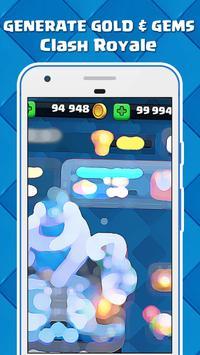Gems & Gold For Clash Royale : JOKE apk screenshot