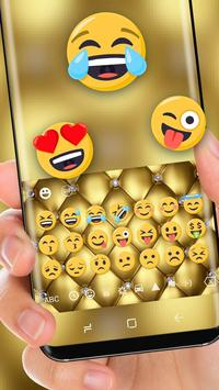 Gold Luxury Deluxe Theme Golden Keyboard screenshot 1