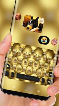 Gold Luxury Deluxe Theme Golden Keyboard screenshot 2