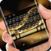 Classic Gold Luxury Silk Keyboard for Huawei icon