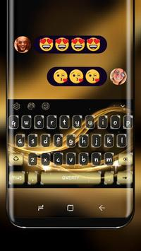 Classic Gold Luxury Silk Keyboard for Huawei poster