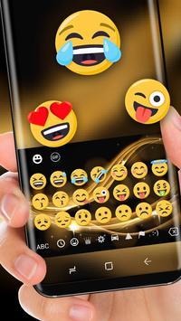 Classic Gold Luxury Silk Keyboard for Huawei screenshot 1