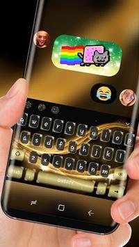 Classic Gold Luxury Silk Keyboard for Huawei screenshot 2