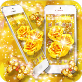 Golden Rose Butterfly Launcher icon