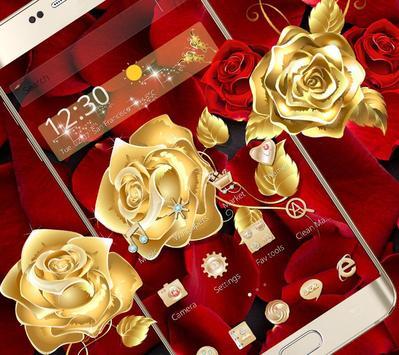Golden Rose Wallpaper Screenshot 4