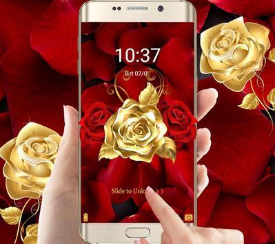 Golden Rose Wallpaper Screenshot 6