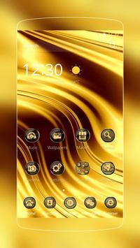 gold silk luxury theme poster