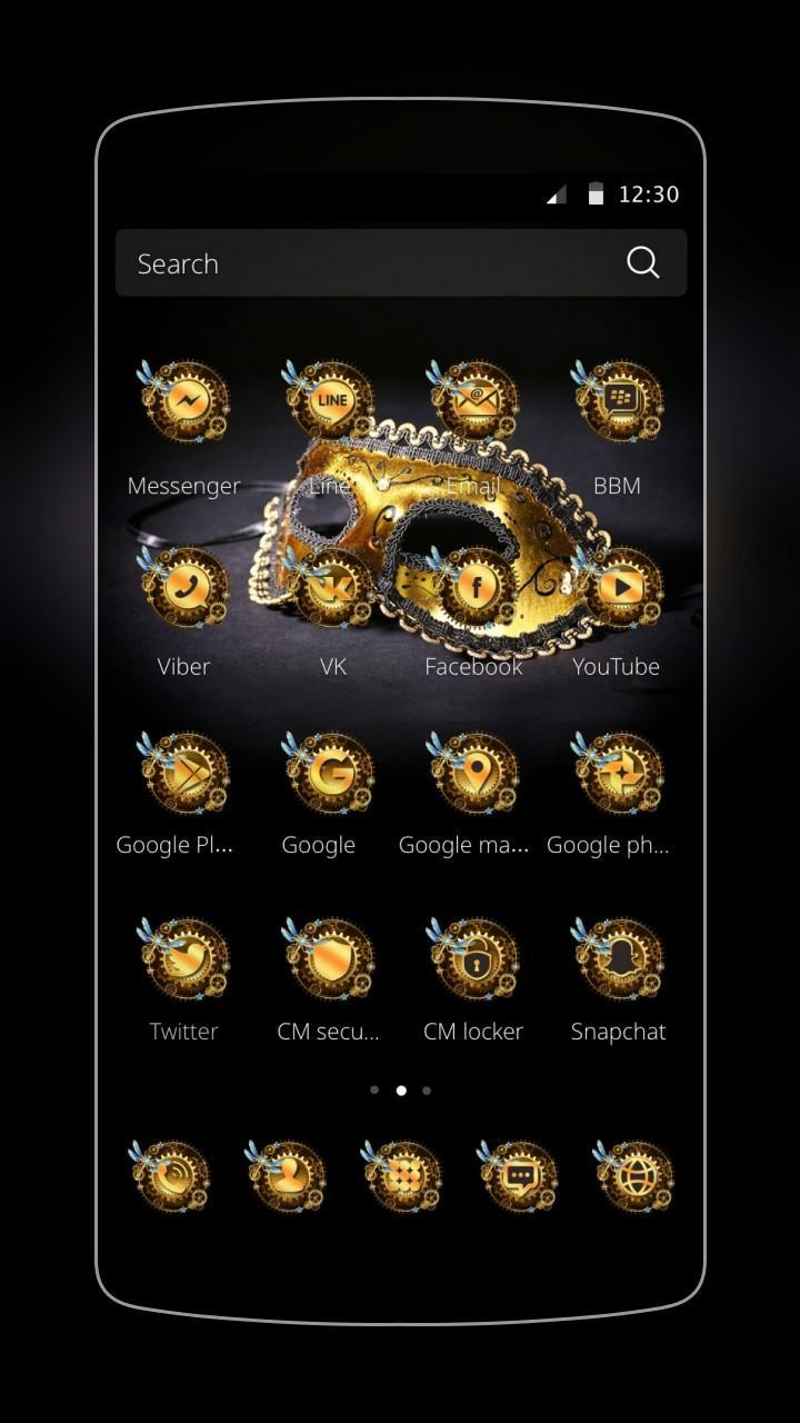 Golden Black Mask Wallpaper For Android Apk Download