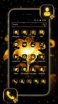 Golden Flower Bowknot Theme poster