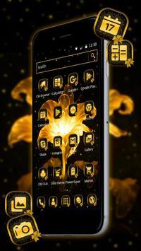 Golden Flower Bowknot Theme apk screenshot