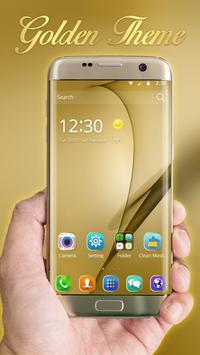 Gold Theme for Galaxy S8 Plus screenshot 1