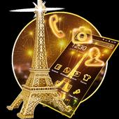 Golden Paris Eiffel Tower icon
