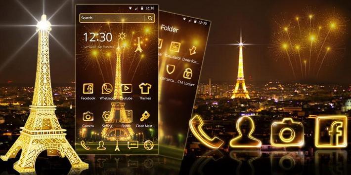 Golden Paris Eiffel Tower screenshot 3